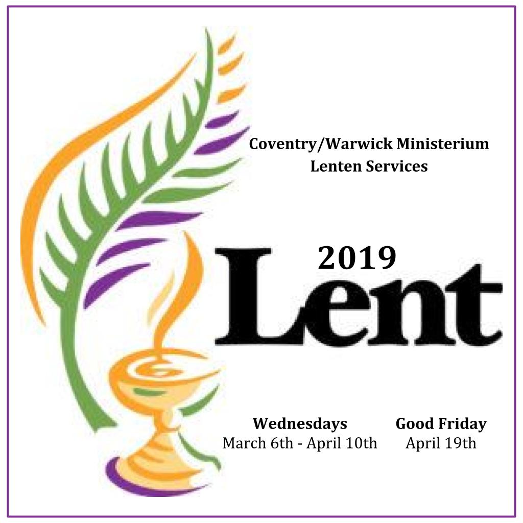 Lenten Community Services 2019
