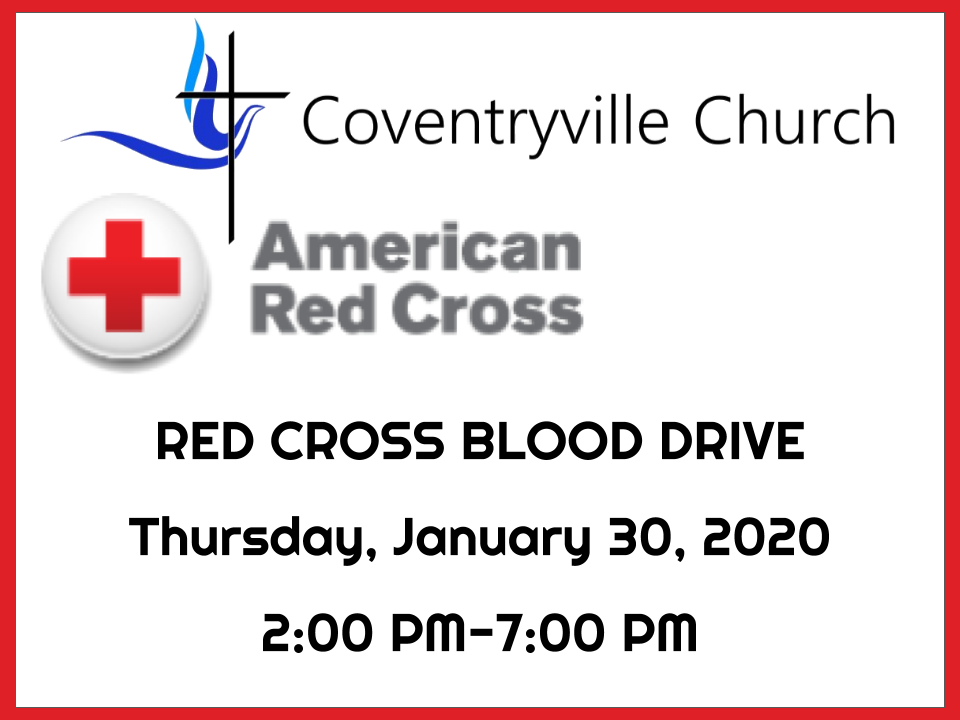 Red Cross Blood Drive Coventryville Church Pottstown PA